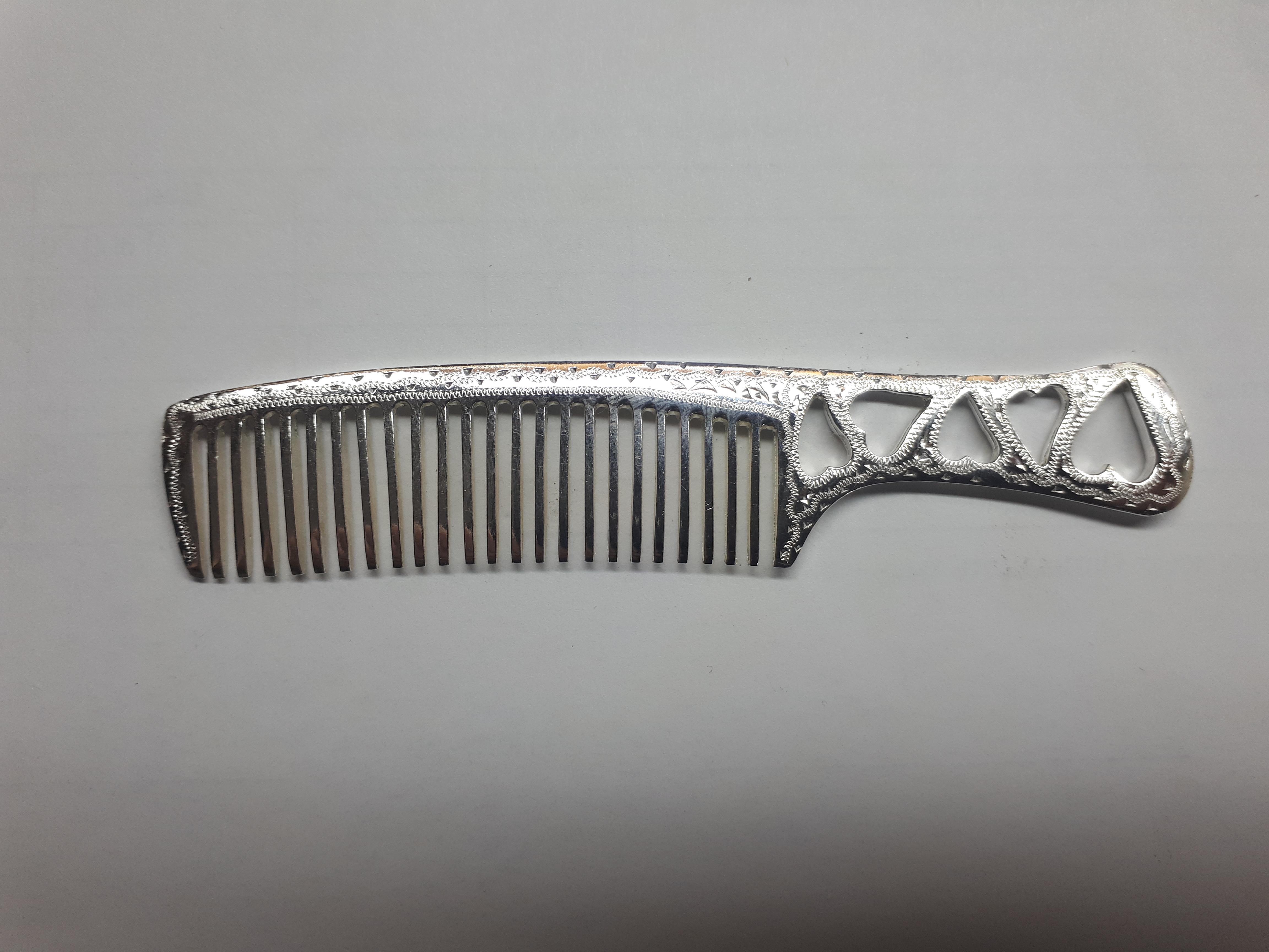 купить серебряную расческу